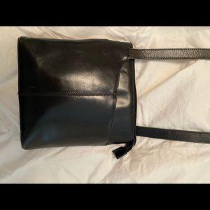 Sleek Black Hobo Crossbody Bag